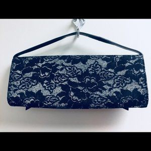 Vintage Bags - Hollywould Monroe Lace Clutch - Silver